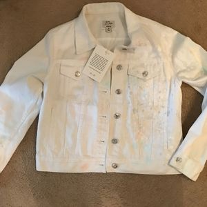 J.CREW LIMITED EDITION DENIM JACKET IN PAINT SPLAT